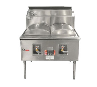 Town Food Service CF-2 LP Cheung Fun Noodle Range, Gas, 2 Two Ring Burner, Manual Fill Fauc