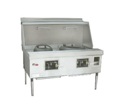 Town Food Service Y-2-SS LP York Wok Range, 2 Chamber, Fiber Ceramic Insulation, Stainless Sides, LP