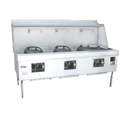 Town Food Service Y-3-SS LP York Wok Range, 3 Chamber, Fiber Ceramic Insulation, Stainless Sides, LP