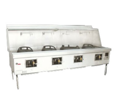 Town Food Service Y-4-STD NG York Wok Range, 4 Chamber, Fiber Ceramic Insulation, Painted Sides, NG