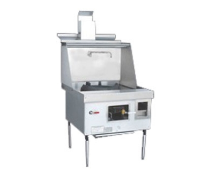 Town Food Service YF-1-SS LP York Wok Range, 1 Chamber w/ Flue, Fiber Ceramic Insulation, Stainless Sides, LP
