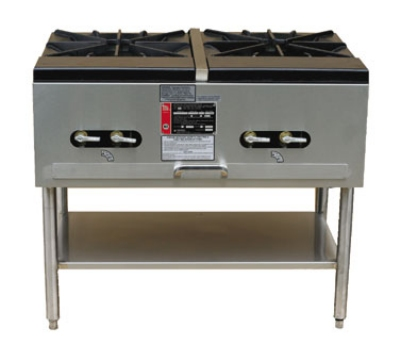 Town Food Service SR-24-G-2X NG 38 in Double Stock Pot Stove, NG