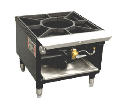 Town Foodservice Equipment SR-18-R-SS LP Stock Pot Range (1) 2 Ring Burners Cast Iron Grate Rear Gas Connection LP Restaurant Supply
