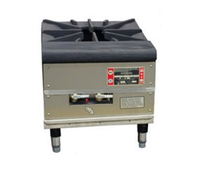 Town Food Service SR-24-G-SS LP 18 in Stock Pot Stove, Cast Iron Grate, 3/4 in Rear Gas Connection, LP