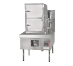 Town Food Service YF-STMR-SS NG Steamer Range And Cabinet, 2 Compartments, 41 in Cabinet, 32 Tip Jet