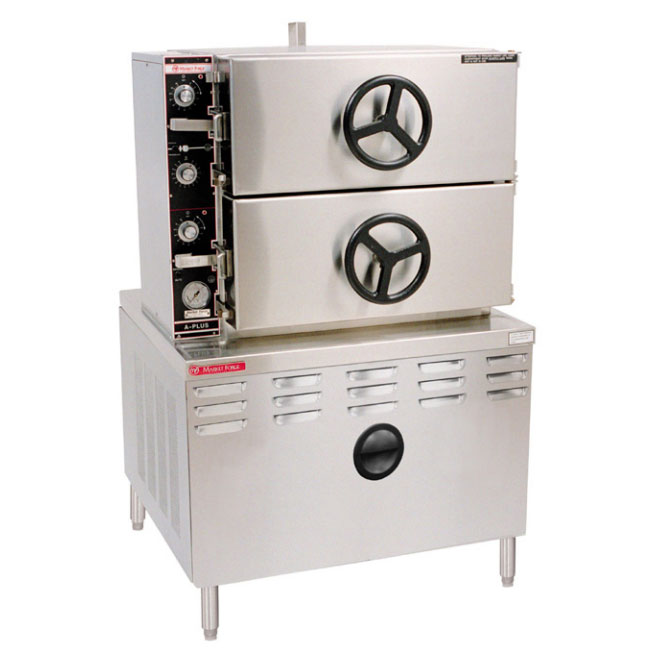 Market Forge 2AM36D 36-in Pressure Steamer w/ Manual Timer Controls & 2-Compartments