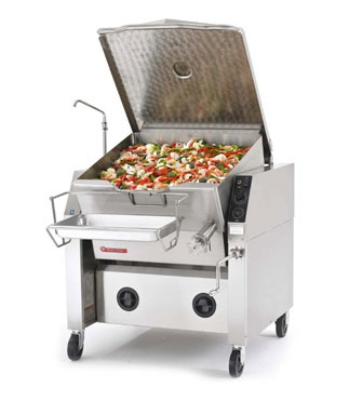 Market Forge 30PSTEL2401 Tilting Skillet, 30 gal. Capacity, Ope