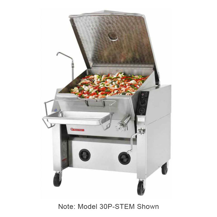 Market Forge 30PSTEM 30-Gallon Tilting Skillet w/ Modular Enclosed Cabinet Base