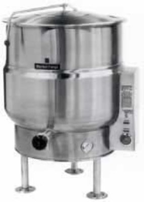 Market Forge F100LE2401 Kettle, 100 Gallon Capacity, Tri-Leg, All SS