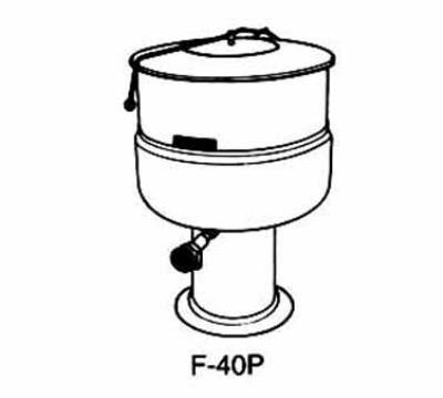 Market Forge F100PE2083 Kettle, 100 Gal., Pedestal Base, 208/3 V