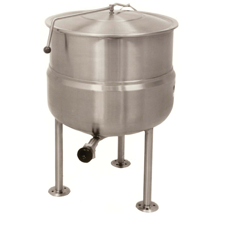 Market Forge F150L Kettle, Direct Steam, Stationary, 150 gal. Capacity