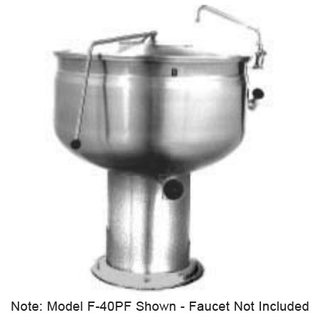 Market Forge F-30PF 30-gal Kettle, Direct Steam w/ Full Steam Jacket Design & Pedestal Base