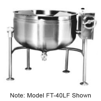 Market Forge FT-30LF 30-gal Tilting Kettle, Direct Steam, Full Steam Jacket Design, Stainless