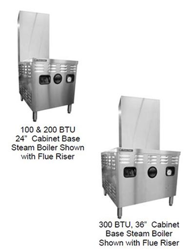 Market Forge M24G100A-4SP LP 24-in Steam Generator, Modular Design, Spark Pilot Ignition, LP
