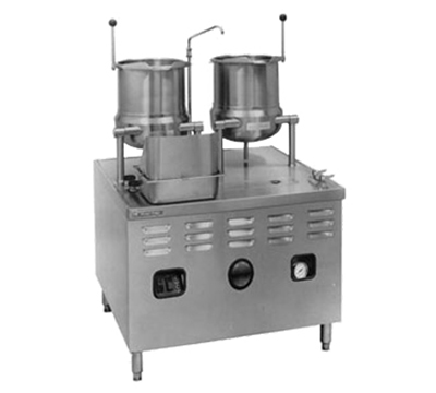 Market Forge MT10T6E36A4403 2-Tilting Kettles w/ 36-in Base &am