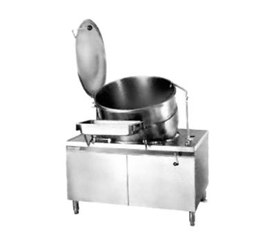 Market Forge MT60 60-gal Tilting Kettle, Direct Steam, 2/3-Steam Jacket Design & Modular Base