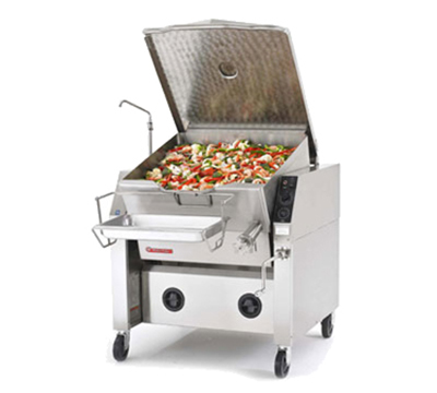 Market Forge 40P-STEM 2083 40-Gal Tilting Skillet w/ Modular Enclosed Cabinet Base, Pan & Frame, 208/3 V