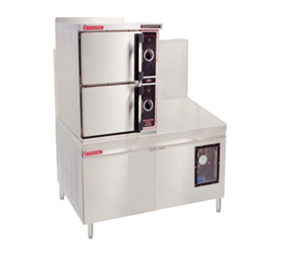 Market Forge 3500M36G300A LP 36-in Convection Steamer w/ (3) 12x20x2.5-in Pan Capacity, LP
