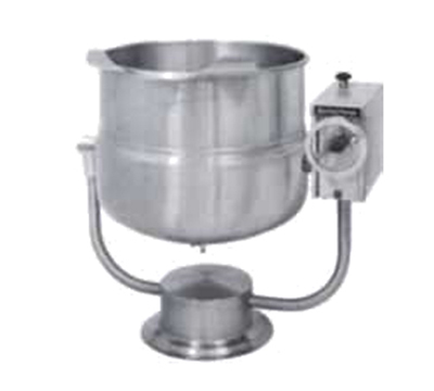 Market Forge FT-40P 40-gal Tilting Kettle, 2/3-Steam Jacket Design & Pedestal Base