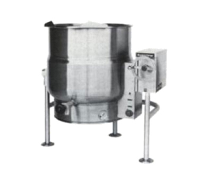 Market Forge FT-60LE 60-gal Tilting Kettle, 2/3-Steam Jacket Design & Open Tri-Leg Base