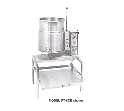 Market Forge FT-12CE 2401 12-gal Tabletop Kettle, Tilt-Type, 2/3- Steam Jacket Design, Stainless, 240/1 V