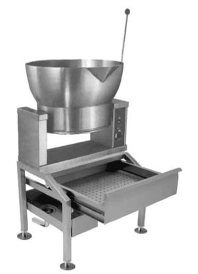 Market Forge R-1600-E4403 16-gal Tilting Skillet, Power Switch & Thermostat, Stainless, 440/3 V