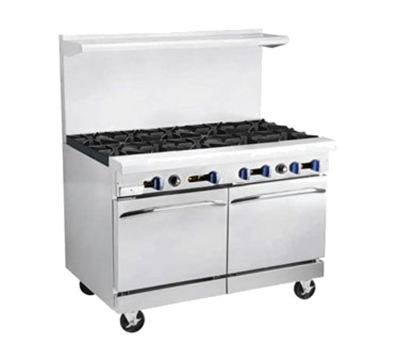 "Market Forge R-RRG24-6 60"" 6-Burner Gas Range with Griddle, LP"
