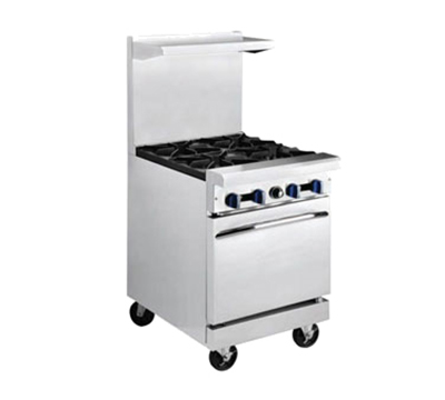 "Market Forge R-R2G-12 24"" 2-Burner Gas Range with Griddle, NG"