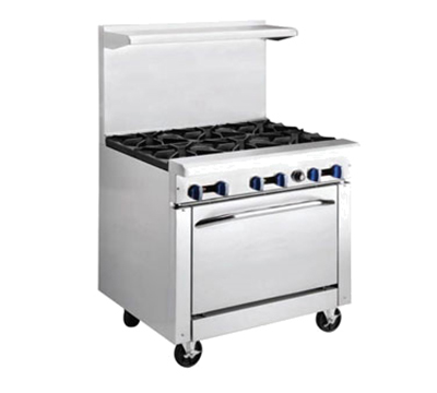 "Market Forge R-R4G-12 36"" 4-Burner Gas Range with Griddle, NG"