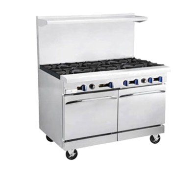"Market Forge R-RG36-2 48"" 2-Burner Gas Range with Griddle, NG"