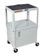 Luxor Furniture AVJ42C-LG Utility Cart w/ Locking Cabin
