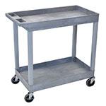 Luxor Furniture EC11-G Utility Cart - Gray,18x35.5x45.25