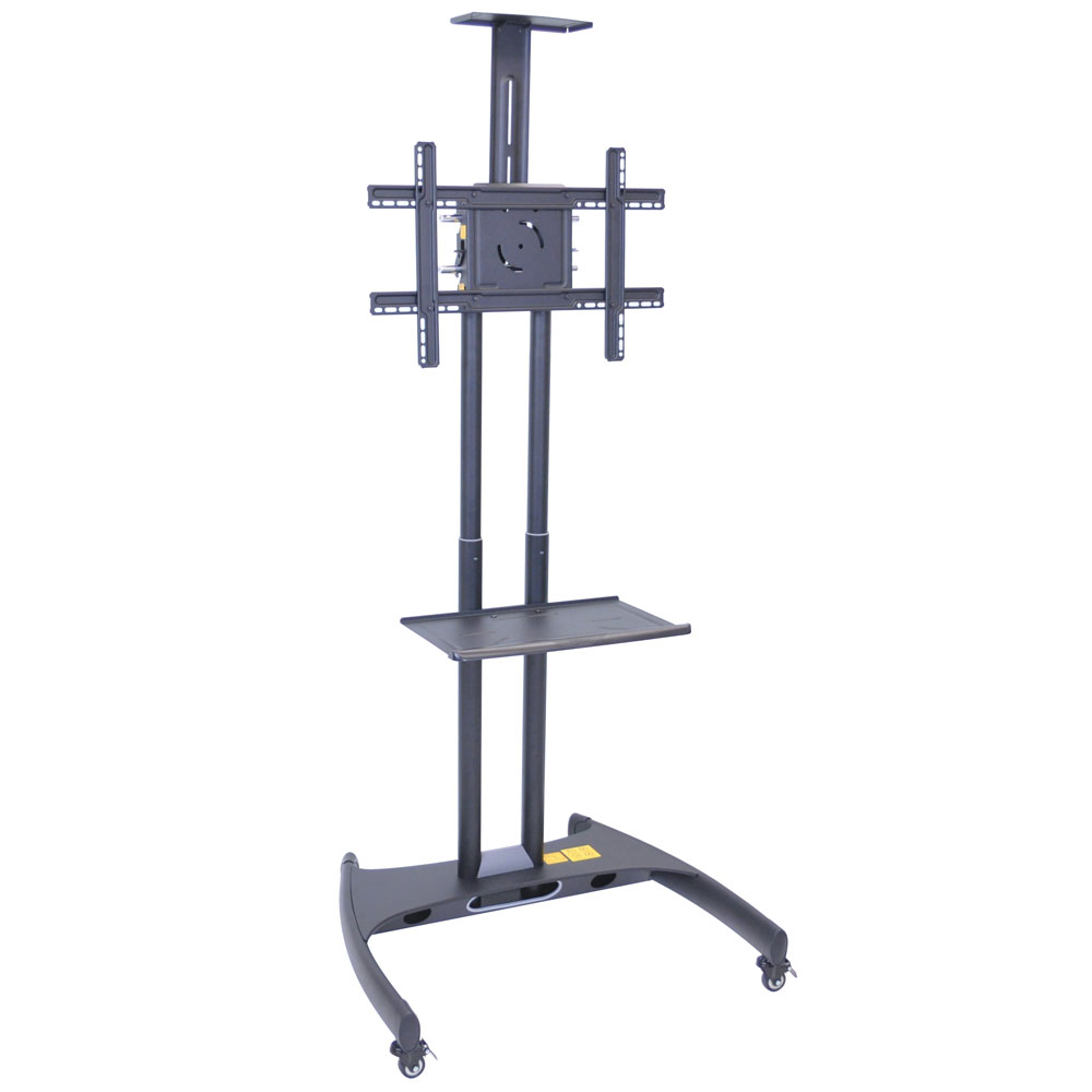 Luxor Furniture FP2750 Adjustable TV Stand w/ Shelf, Camera Mount & 100-lb Capacity, Powder Coat Frame