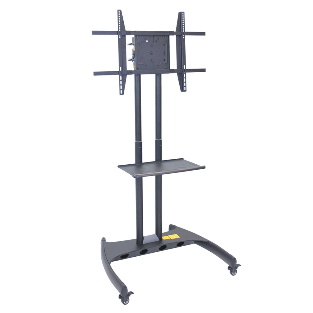 Luxor Furniture FP3500 Adjustable Rotating TV Stand w/ 100-lb Capacity & Locking Casters