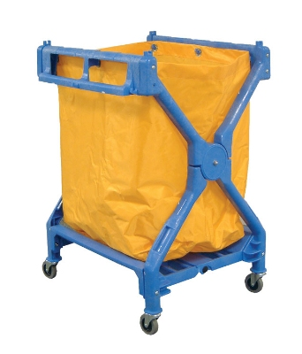 Luxor Furniture HL13 Laundry Cart w/ Blu