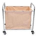Luxor Furniture HL14 Industrial Laundry Cart w/ Metal Frame & Removable Cloth Bag