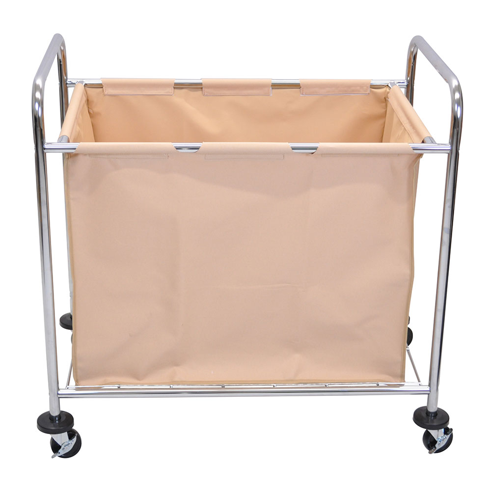Luxor Furniture HL14 Industrial Laundry Cart w/ Metal Frame & Removable C