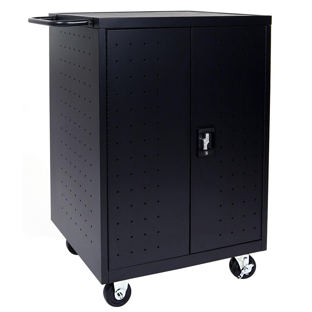 "Luxor Furniture LLTP24-B 24 Laptop/Tablet Charging Cart - 31-1/8x21-1/8x40-1/8"""
