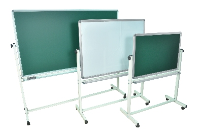 Luxor Furniture MB3624 Reversible Whiteboard & Chalkboard w/ 2-Magnetic Sides, 36 x 24-in