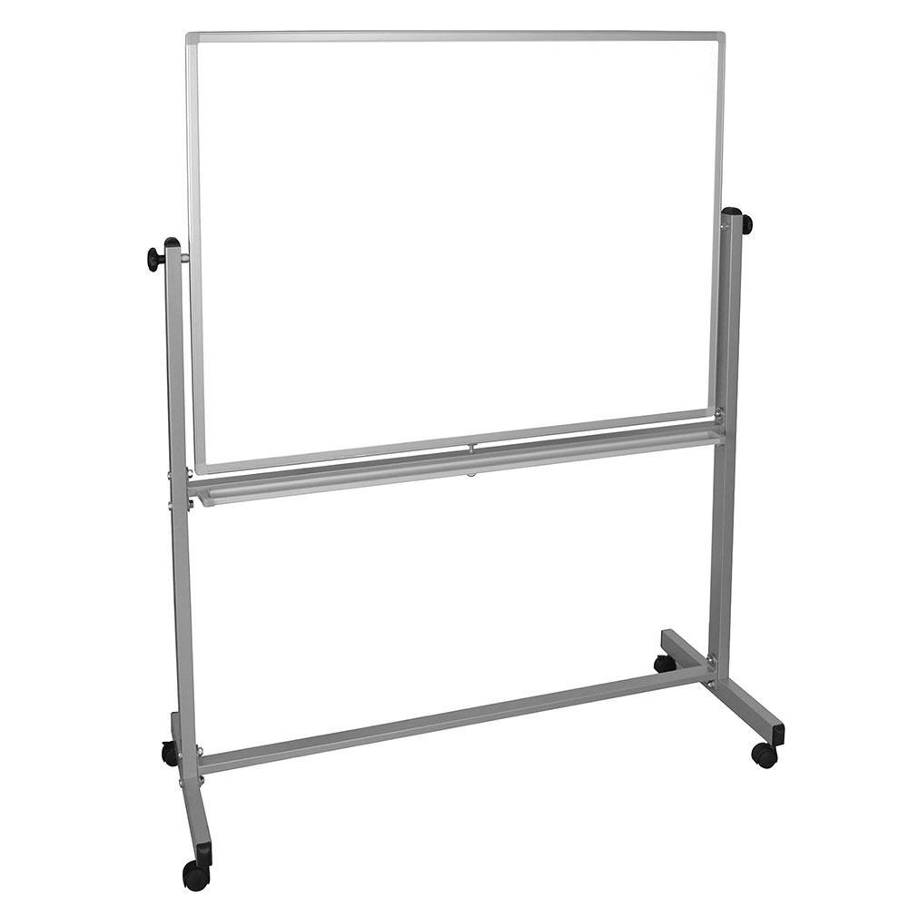 Luxor Furniture MB4836WW Reversible Whiteboard w/ 2-Magnetic Sides, 48 x 36-in