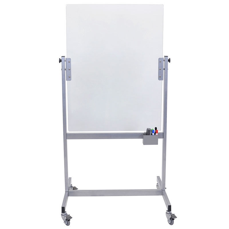 "Luxor Furniture MGB3040 Mobile Marker Board - 30x40"" Tempered Glass, Steel Frame"