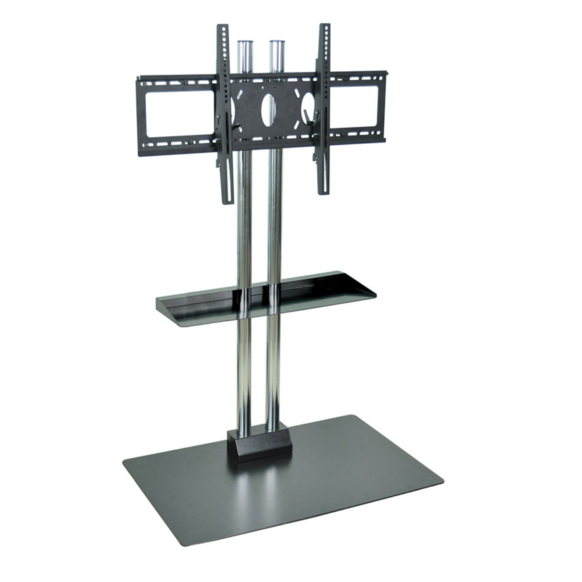 Luxor Furniture WPSMS62SCH Stationary Flat Panel TV Stand & Mount w/ Shelf, Accomodate to 60-in, Black Base