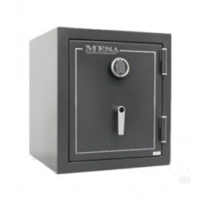 Mesa Safe MBF1512EHGRY Burglary/Fire Safe - All Steel, Electronic Lock, 1.7 cu ft, Hammered Gray