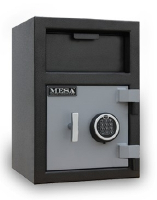 Mesa Safe MFL2014E BLKGR Depository Safe - All Steel, Electronic Lock, 0.8 cu ft Blk/Gry