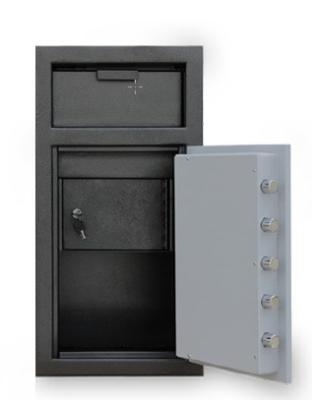 Mesa Safe MFL2714K-ILK BLKGR Depository Safe, 27.5-in, 1.3-cu ft, Keyed Lock, Black & Grey