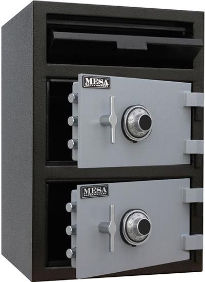 Mesa Safe MFL3020CC BLKGR Depository Safe - All Steel, Combination Lock, 3.6 cu ft, Blk/Gry