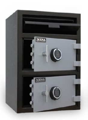 Mesa Safe MFL3020EE BLKGR Depository Safe - All Steel, Electronic Lock, 3.6 cu ft Blk/Gry