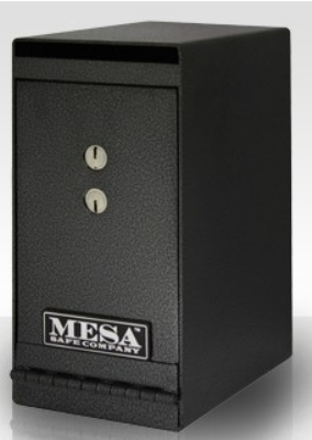 Mesa Safe MUC1K Undercounter Safe, 12 x 6 x 8.75-in, Dual Key, Steel, Hammered Grey