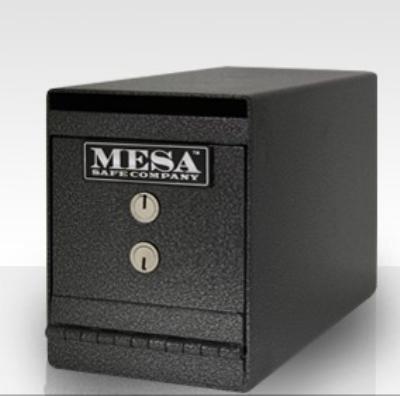 Mesa Safe MUC2K Undercounter Safe, 8 x 6 x 12.75-in, Dual Key, Steel, Hammered Grey