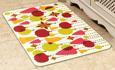 Wellness Mats 32SC124H Holiday Pattern Decorative Mat Cover,
